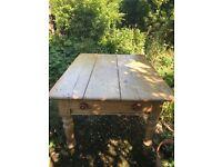 Antique Pine Wood Table OTO