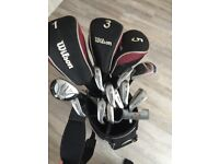 Wilson Ultra TXF Golf club set graphite shafts - used but good condition with bag