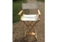Tall directors chair. Garden, face painting etc. As new.