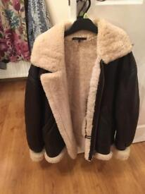 Old flight jacket original shearling