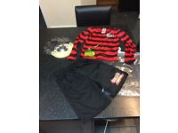 NEW DENNIS THE MENACE WORLD BOOK DAY OUTFIT COSTUME FANCY DRESS UP AGE 7-8 YEARS FREE DELIVERY POST