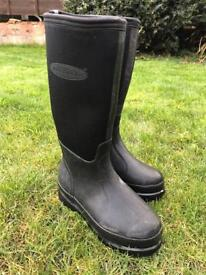 Ladies black Muck boot Co Wellington boots