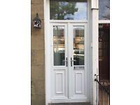 UPVC front storm doors excellent condition