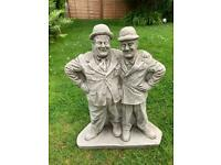 Stone garden Laurel and hardy figures, fantastic detail. New