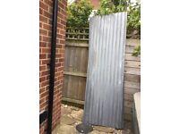 3 x Galvanised Corrugated Steel Sheets