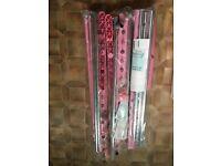 3x Clothes Rails pink & chrome Brand New W 84.5 x H 167cm