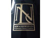 New & Lingwood Men's Tie Baby Blue, Pure Silk