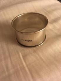 Fully hallmarked solid silver napkin/ serviette ring Sheffield 1921
