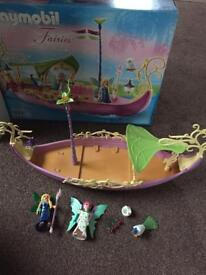 Playmobile fairy boat boxed as bew