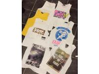 Bundle of 7 vest tops boys age 14 or men's small