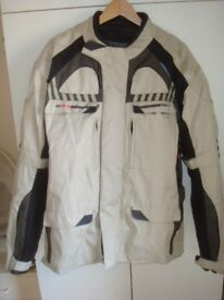 Gents motor cycle jacket , brand new , high performance fabric,armour in shoulders and elbows