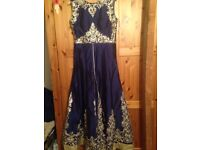 Anarkali Regal Blue, full length, excellent condition, quality silk
