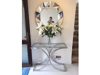 Glass & Chrome Console Side Table RRP £400 Unwanted Excellent condition