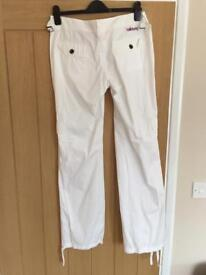 Billabong white casual trousers size 10
