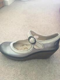 Fly London silver shoes