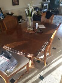 antique dining table 100% soild oak