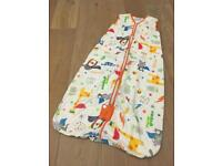 Gro Bag sleep bag, white with pattern