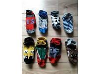 Boys size 9/12 trainer socks x 9