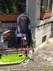 Childs rear bike seat