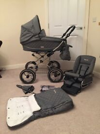 BabyStyle pram and pushchair with accessories.