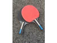 2 x Dunlop Rage Table Tennis Bats Paddles