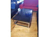 1 x large black coffee table