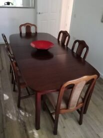 Large dining table and 6 chairs - excellent condition