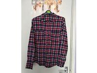 Stylish checked tartan shirt button up size 12