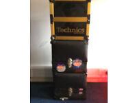 12 inch Retro Record Boxes Adda & Technics