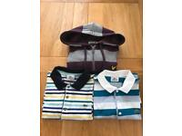 Lyle and Scott hoodie and 2 Lacoste polos