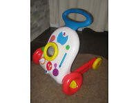 2 in 1 Pusch Along Stop And Play Activity Walker