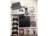 PS3 CONSOLE 320GB + 6 TOP GAMES INCLUDING (GTA5, Fifa15, ...)