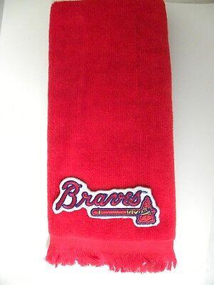 Atlanta Braves Applique - Atlanta Braves MLB baseball TOWEL golf towel FREESHIP red applique 11