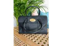 Black Leather Mulberry Style Handbag