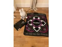 Graphic tablet, dance mat and plushie