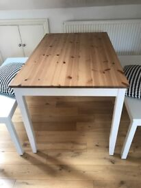 IKEA Lernham Dinning table & two benches