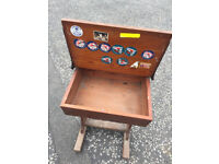 Vintage Pine Desk with lift up top . In good solid condition . Free local delivery.