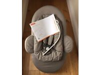 Stokke Steps Bouncer - Grey, in very good condition, with instructions.