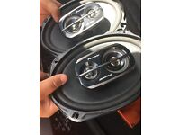 Parcel shelf Pioneer car speakers for sale in great condition hardly used 6 by 12 only £60