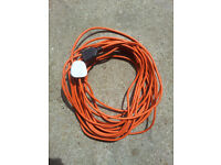 FLYMO Cable (Old Type) 20 Meter Lawnmower Hedge Trimmer Mains Power Plug ***WILLING TO POST***