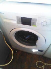 as new beko white 8kg 1400 spin digital washing machine 1 month guarantee