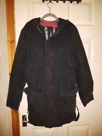 Black superdry coat. Size medium.