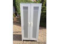 2 DOOR WHITE WARDROBE