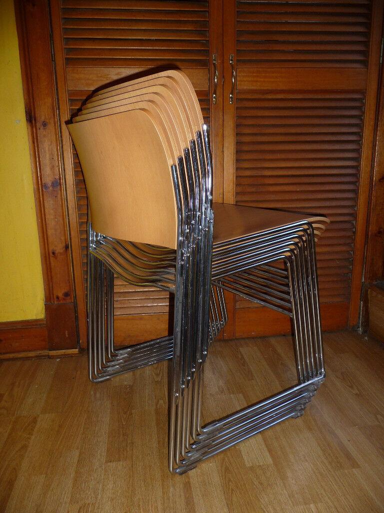 Set Of 6 David Rowland Gf40 4 Beech Wood Stacking Dinning Chairs In Stockbridge Edinburgh Gumtree