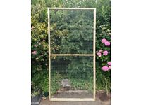 New wire mesh panels & door for use as aviary, cattery, chicken/rabbit/tortoise run etc