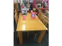 BHF Wooden Table + 4 Chairs