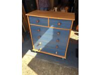 Blue Chest of Drawers For Sale