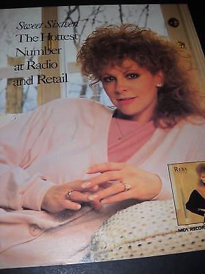 REBA McENTIRE Sweet Sixteen 1989 PROMO POSTER AD mint