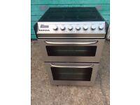 £129.33 Zanussi sls/Black ceramic electric cooker+60cm+3 months warranty for £129.33