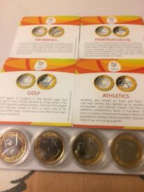 4 x Rio 2016 Olympic coins